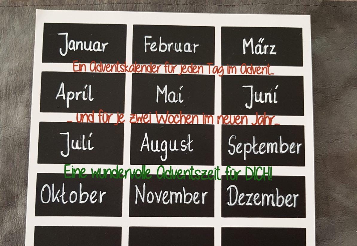 24 Tage für 12 Monate - ein etwas anderer Adventskalender
